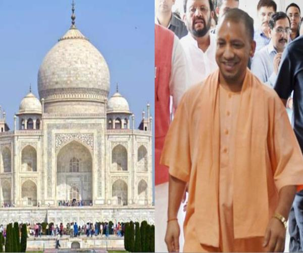 cm yogi will go to agra to show taj mahal among controversies