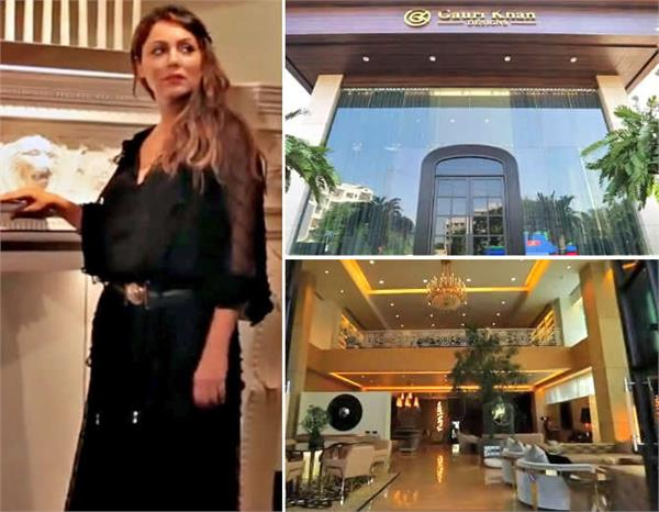 shahrukh khan wife gauri khan office