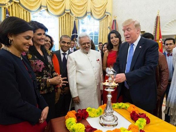 trump celebrates diwali in white house