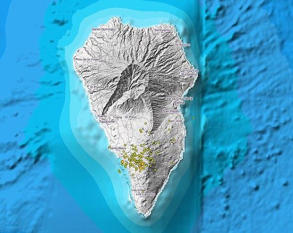 island la palma sees 352 earthquakes in 10 days