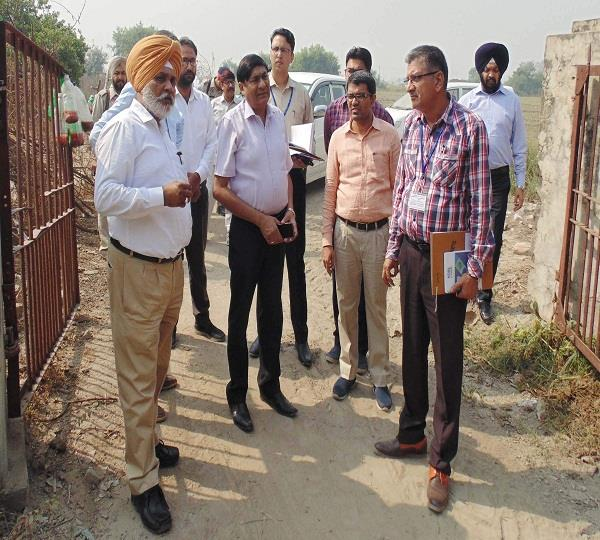 central team inspection of 25 acres of land