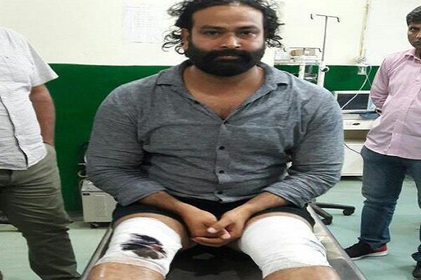 gangster akhilesh injured in encounter
