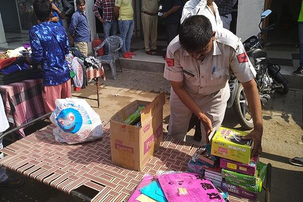 raid crackdown on illegal firework shops