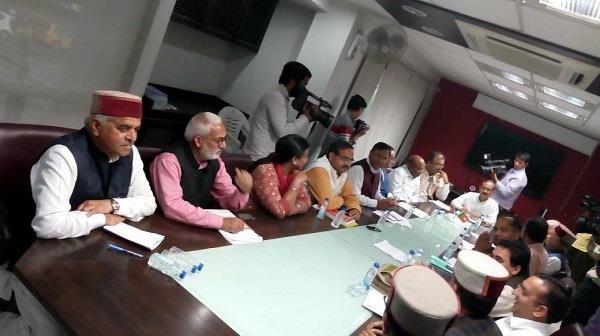 bjp election committee meeting held in chandigarh