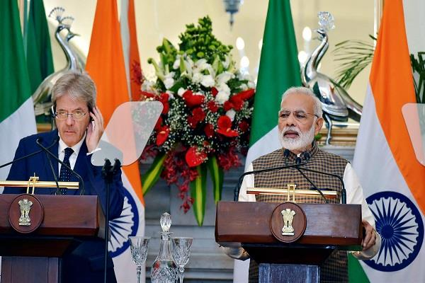 india and italy will fight against terrorism pm modi