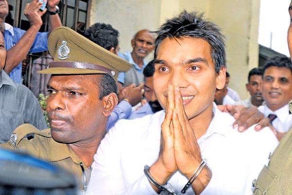 sri lanka former presidents son arrested