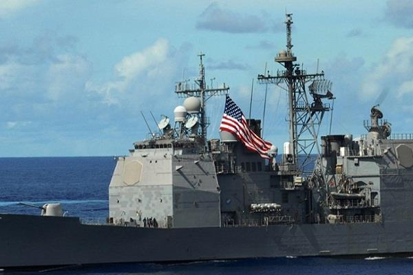 american warships show in southe chinese sea provoked china