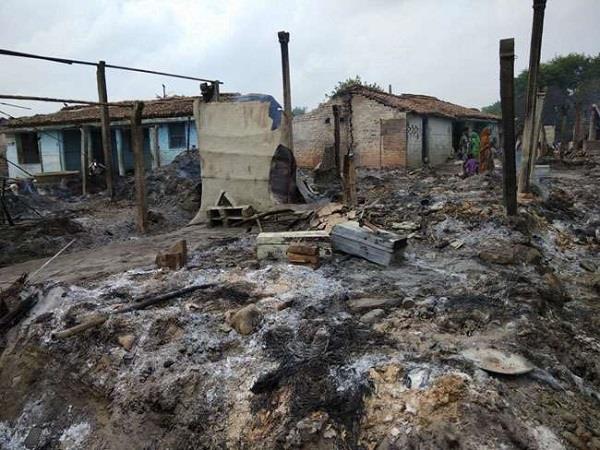 burning of 50 houses of mahadalitas