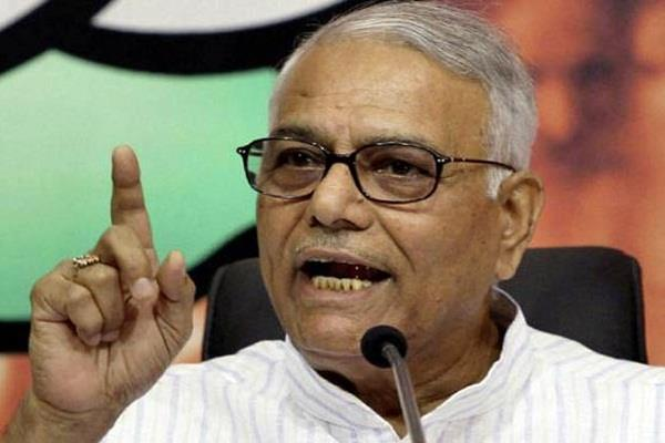 yashwant sinha again targets government over gst and ban on cancellation