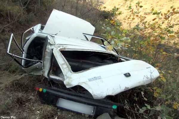 painful incident  car fall into ditch near the bridge one  s death