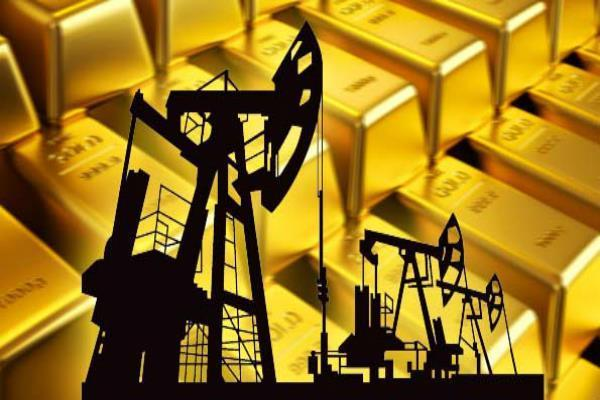 rise in crude oil and gold