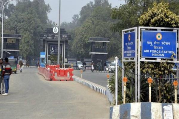 suspected was trying enter in hindan air base