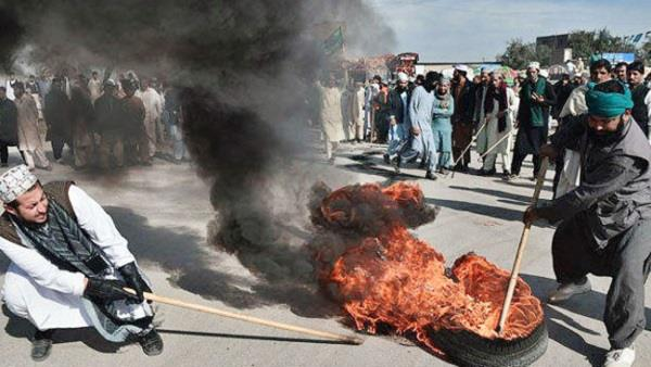 huge protests in pakistan   six died and hundreds injured