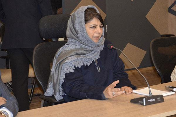 mehbooba order measure steps for religion places secuirty