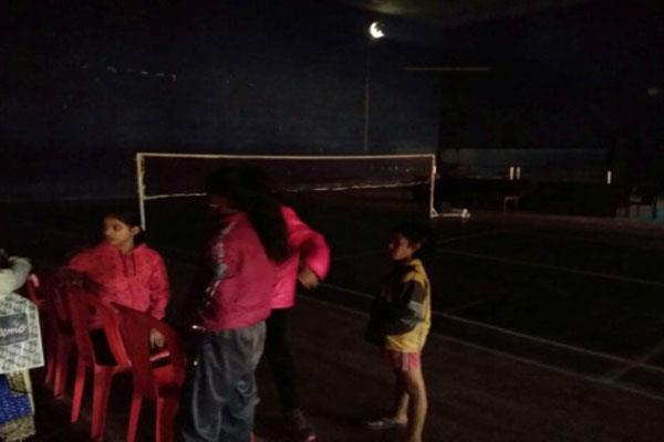 light problem at ma stadium jammu