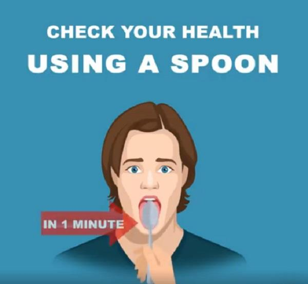 check your health using a spoon in 1 minute