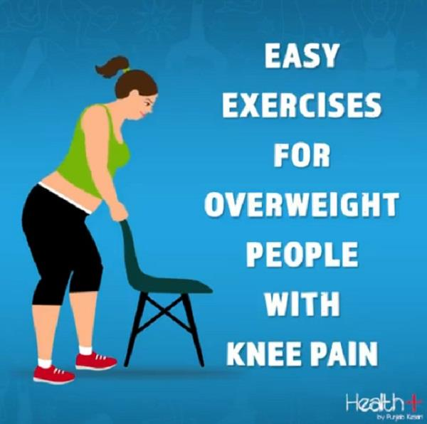 easy exercises for overweight people with knee pain