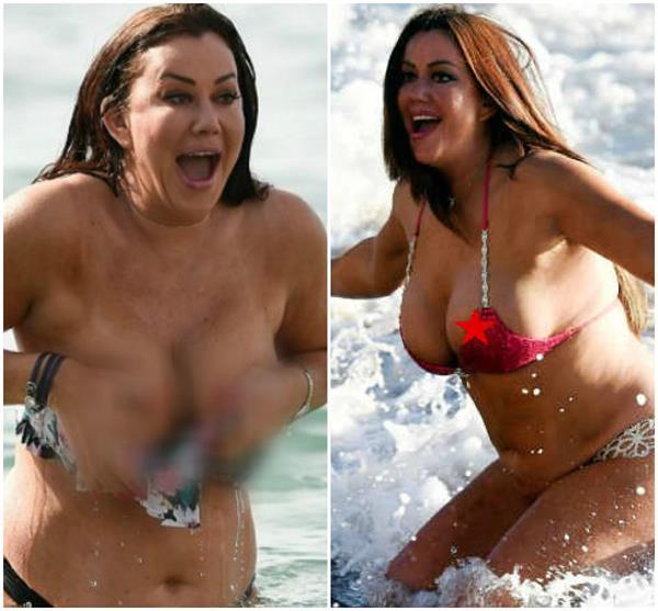 lisa appleton red bikini