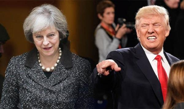 trump attacks theresa over her criticism of his tweets