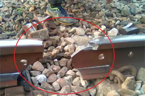 large rail accident nearly 1ft broken track many trains canceled in moradabad