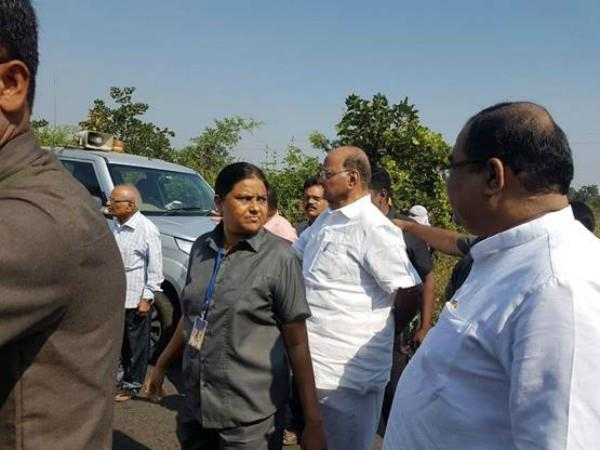 sharad pawar rushed to help the injured