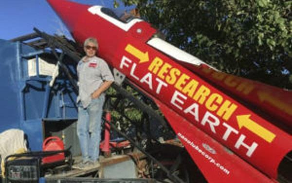 rocket made of waste material ready  for space