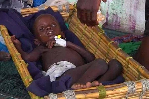 in the war torn southern sudan  12 5 million people face starvation