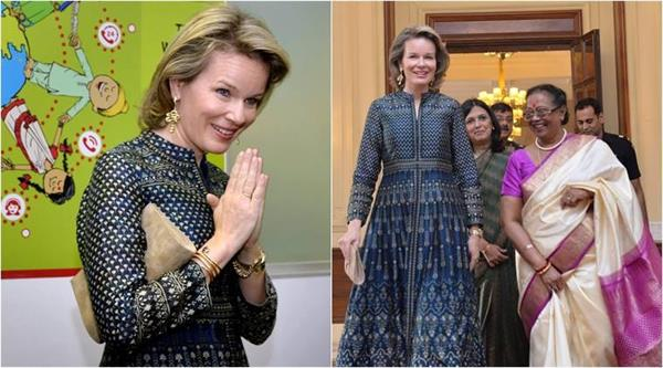 Kate Middleton के बाद Queen Mathilde ने पहनी अनिता डोंगरे की ड्रैस