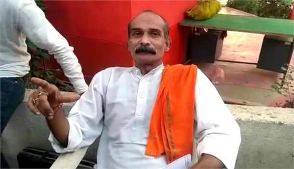 anger for ticket sharing in bjp worker tried for self harm