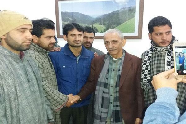 dineshwar sharma reached anantnag