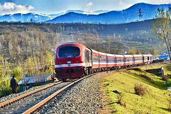 rail service resumed in kashmir