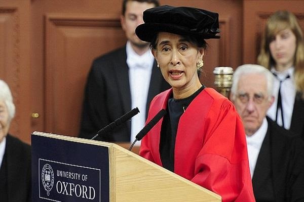 freedom of oxford honors were taken back from suu kyi