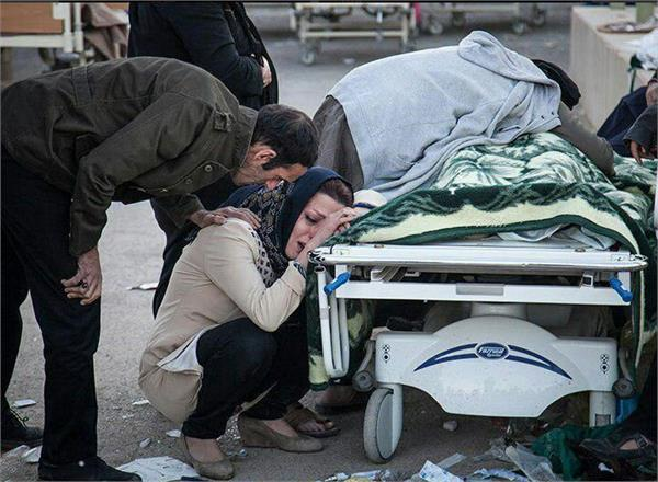 iran iraq earthquake catastrophies 473 deaths more than 6600 injured