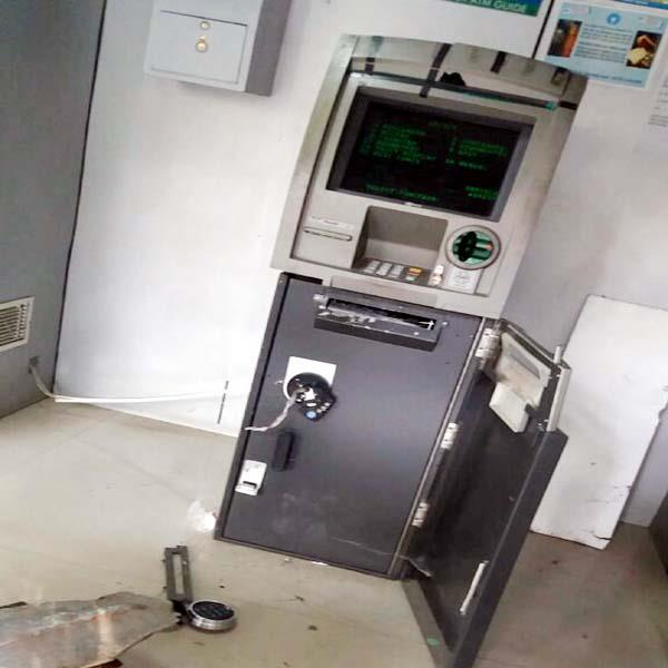 attempts to remove atm in chamba masked man in cctv