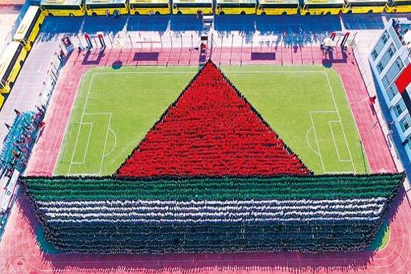 students of indian school in uae make world record on children  s day
