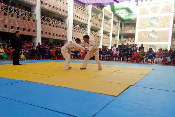 inter college judo men  s championship start  100 participants