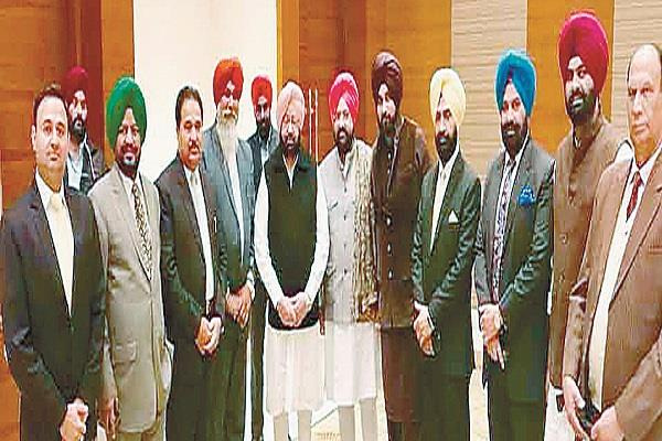 delegation of ministers and legislators of my zone met capt amarinder