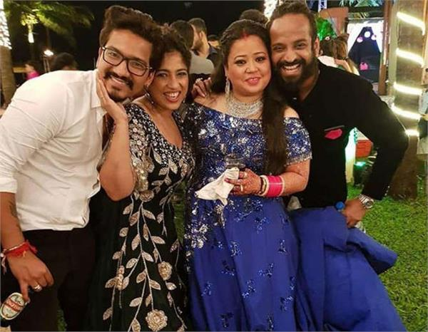 bharti singh haarsh limbachiyaa reception party