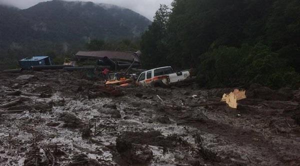 landslide in chile kills 5 at least 15 missing