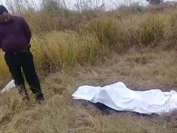 dead body of a woman found in a suitcase of forest