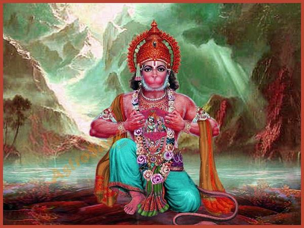 by this method take the divine powers of lord hanuman into his mind and body