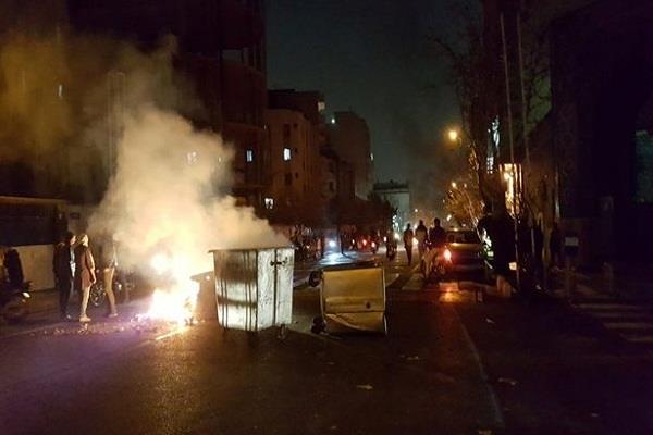 iran releases demonstration on third night