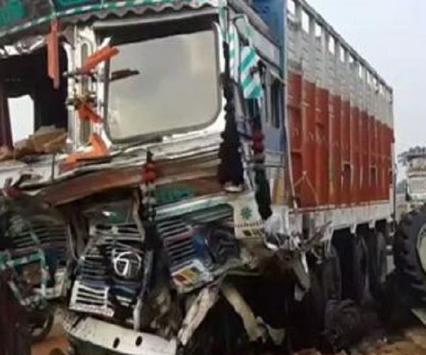 truck collision with tractor