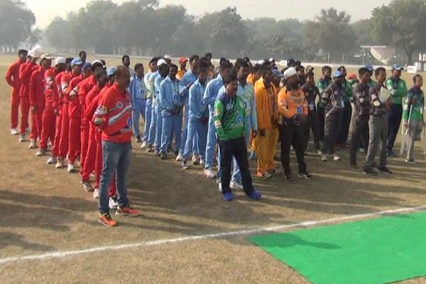twenty twenty cricket tournament started for handicapped players