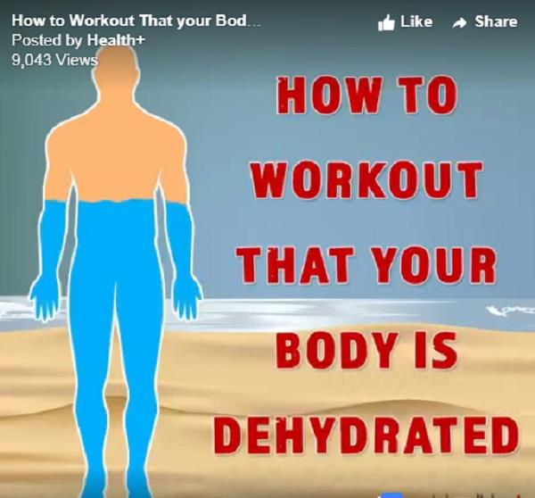 how to workout that your body is dehydrated