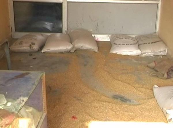 government ration shop locked lock 133 straw wheat stolen