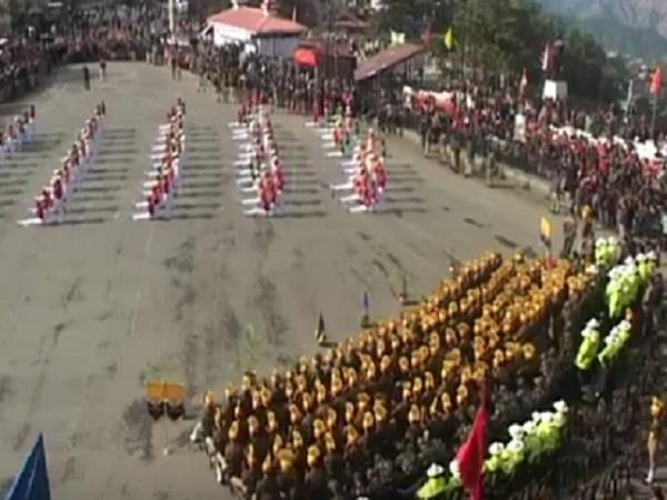 himachal police celebrated for the first time on shimla  s historic ridge field
