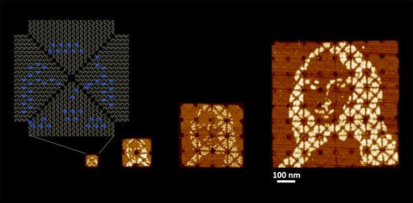 the world s smallest mona lisa is made from dna