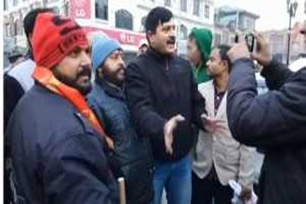 shiv sena protest against bjp at jammu