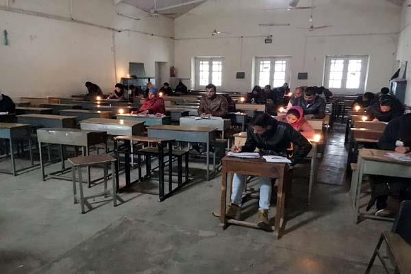 here 200 student forced to take the examination with candles  know why